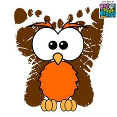 This Footprint Owl will be a fun reminder of those adorable little feet as they grow big. Some day adults when you can show their children.
