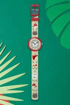 The design of this animal wrist watch has its very own story tell - it's printed with some enchanting furry friends to help make learning the time easy. TILLY LOU'N BUSTER (ZFBNP139) has a strap that is machine washable at 40°C, while the solid plastic case and digital dial are both shock and water resistant. A great gift idea for kids, this analogue watch with its beige and red colour scheme makes it an accessory they would treasure. Red Color Schemes, Red Colour, Plastic Case, Big Ben, Swatch, Great Gifts, Beige, Animal, Printed