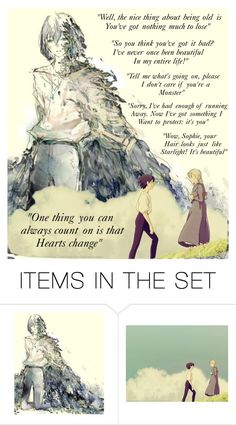 """Howl's Moving Castle quotes (one of my favourite films)"" by deadgir1walking ❤ liked on Polyvore featuring art"