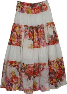 The Little Bazaar: Garden White Cotton Long Skirt skirt Garden White Cotton Long Skirt Modest Dresses, Modest Outfits, Skirt Outfits, Dress Skirt, Summer Dresses, Loose Knit Sweaters, Shirt Refashion, Knit Dress, Lounge Wear