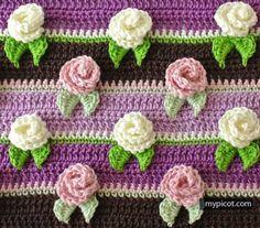 çiçekli battaniye yapımı-2