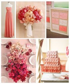 Peach Color Scheme pretty dress