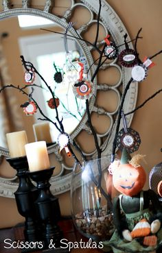 Decorated Halloween Branches
