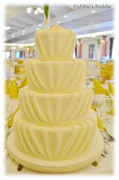 Classic Elegant Ivory Wedding Cake