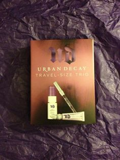 'BNIB Authentic Urban Decay Travel-Size Trio' is going up for auction at  6pm Sat, Oct 26 with a starting bid of $15.