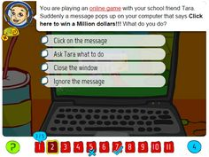 Interactive quiz to explore internet safety topics