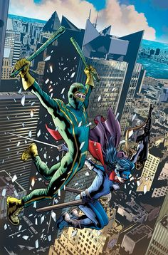 Cover for Kick-Ass 2 series) [Bryan Hitch Variant Cover] Comic Book Superheroes, Marvel Comic Books, Comic Book Characters, Comic Books Art, Marvel Comics, Book Art, Comic Movies, Marvel Dc, Kickass Comic