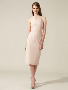 L'Wren Scott Wool Pinstripe Sheath Dress