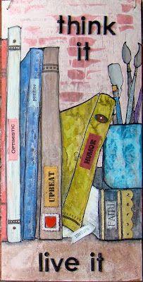 SOLD ~ mixed media canvas , wall art, home decor