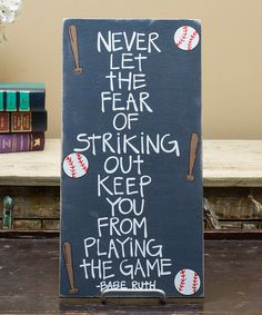 Navy Babe Ruth Wall Sign #zulily #zulilyfinds
