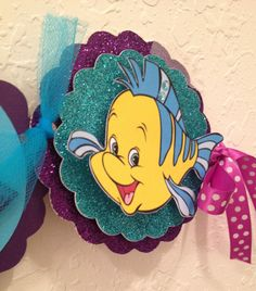 Little Mermaid Birthday Name Banner I like the idea of tying them together with tulle