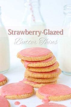 Strawberry-Glazed Butter Thins