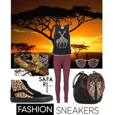 """""""safari sneakers"""" by kc-spangler on Polyvore"""