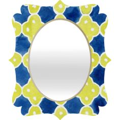 30% off 12/13/13 only with code LASTCHANCE30!! Social Proper Spanish Tiles Quatrefoil Mirror | DENY Designs Home Accessories