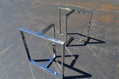 Acero inoxidable pulido en forma de T mesa/escritorio/Banco