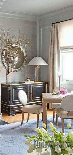 """""""There are so many different flavors in the living room,"""" Dhong says, """"but it's all carefully balanced.""""   cynthia reccord"""