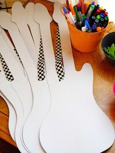 Decorate your own Guitar Station, Rockstar Birthday Birthday Party Ideas | Photo 1 of 59 | Catch My Party