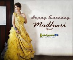Many Many happy returns of the day most #beautiful #Bollywood #actress #MadhuriDixit. #HappyBirthdayMadhuriDixit
