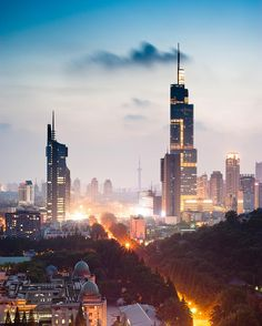 nanjing, china city lights | night + travel photography
