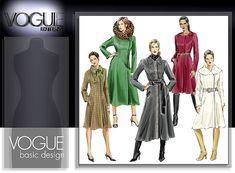 Vogue Patterns 8165 A-line coat sewing pattern Coat Pattern Sewing, Vogue Sewing Patterns, Coat Patterns, Max Mara Coat, Line, Vests, Google, Jackets, Image