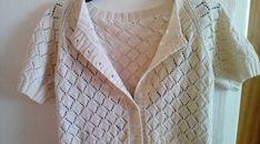 Ravelry: Summer Diamond Jacket pattern by Pixie Knits Knitting Charts, Knitting Patterns Free, Knit Patterns, Free Knitting, Free Pattern, Cardigan Pattern, Jacket Pattern, Knit Edge, Cast Off