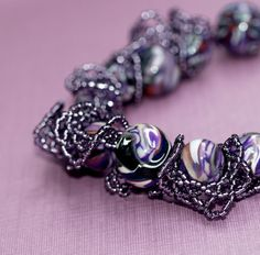 Wild Grapes  Bracelet  Purple  Polymer Clay  Oglala  by time2cre8, $48.00