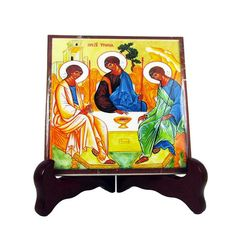 #Christian gifts #Holy #Trinity religious art icon on ceramic tile http://etsy.me/2wMj8X8