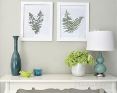 Fern/Leaf Wall Art. Definitely doing this with maple leaves.