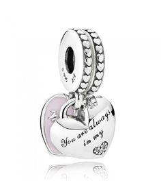 PANDORA Mother And Daughter Hearts Charm 792072en40 The most fashionable Pandora latest style in our store listing, welcome to buy.