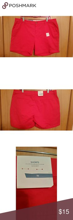 NWT old navy shorts New with rags okd navy shorts Womens size 14 These are that color of hot pink where it almost looks red, super cute  No trades  Most offers will be considered  Happy poshing!  Remember, bundle and save!   Free gift with the purchase of two or more items from my closet. Old Navy Shorts