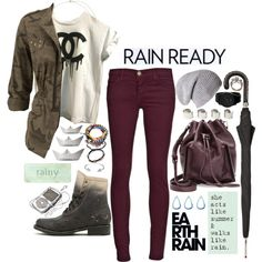"""""""rain or shine"""" by arielle-k-london on Polyvore"""