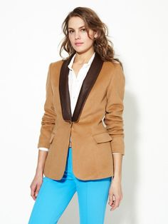 My blazer collection just keeps growing.  This is so smoking jacket/gentleman player and I love it.