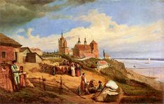 View Of Plock by Wojciech Gerson - Oil Painting Reproduction Monuments, Writing Art, Fallen Heroes, Oil Painting Reproductions, Online Painting, Impressionism, Museum, Fine Art, Canvas