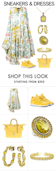 """""""Sporty Chic: Sneakers and Dresses"""" by karen-galves on Polyvore featuring Area Di Barbara Bologna, adidas, The Changing Factor, Lagos, Sabine Getty, Allurez and SNEAKERSANDDRESSES"""
