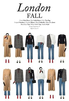 What to wear in London in the fall: A capsule wardrobe for London this fall, Capsule Outfits, Fall Capsule Wardrobe, Fashion Capsule, Mode Outfits, Fall Outfits, Fashion Outfits, Fashion Moda, Look Fashion, Autumn Fashion