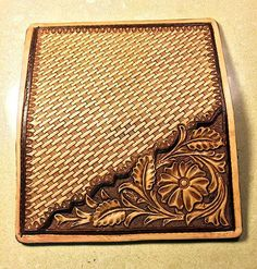 Hand Tooled Sheridan Style & Basket Stamped by SilverWingsLeather