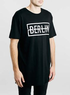 BLACK LONG LINE BERLIN T-SHIRT - Printed T-Shirts - Men's Tees & Tanks - Clothing