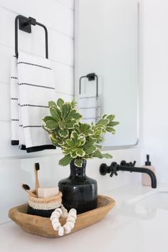 A Large Master Bathroom Designed with Personality | Rue Shower Alcove, Shower Niche, Shower Mirror, Bath Shower, Bath Tub, Bathroom Renos, Bathroom Interior, Bathroom Ideas, Bathroom Organization