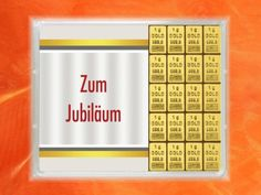 20 g (20 x 1g) Goldbarren zum Jubiläum Cold, Gold Bullion Bars, Gifts