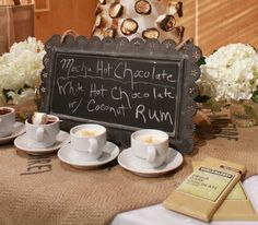 Chocolate and White Hot Chocolate with Coconut Rum and ALMOND, ANISE ...