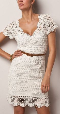 Cute and Lovely Crochet Dresses Patterns Design Ideas Part crochet dress pattern; crochet dress plus size; knitting dress for woman Crochet Clothes, Crochet Dresses, Crochet Vintage, Best Summer Dresses, Dress Summer, Popular Dresses, Kinds Of Clothes, Day Dresses, Ladies Dresses