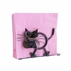 Metal Cat Napkin Holder