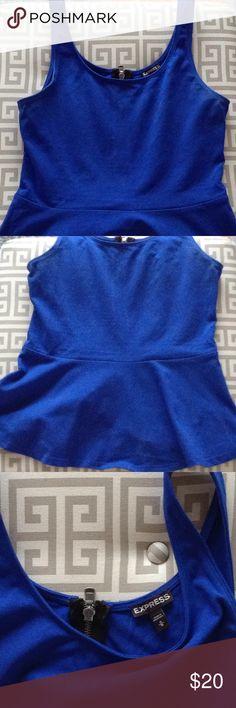 EXPRESS Cobalt Blue Peplum Express cobalt blue peplum top. Like new! Express Tops