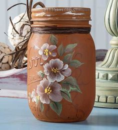 Craft Painting - Crafty Mason Jar with Blooms