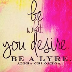 be a lyre