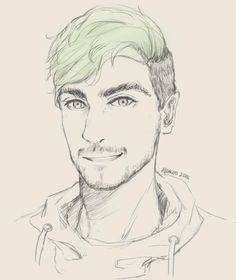 """ningyosan: """"Top of the morning to you laddies, my name is Jacksepticeye!"""" A rough sketch of jacksepticeye, love his videos!! His energetic side always cheers me up :'D I hope able to meet him one day ;w;  (Sorry if the art doesn't look like him ><;) therealjacksepticeye: This is fantastic :)"""