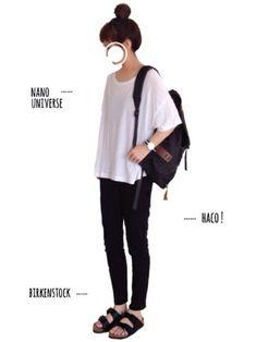 tum│nano・universe T Shirts Looks - WEAR Korea Fashion, Asian Fashion, Minimal Wardrobe, Muji, Korean Outfits, Japanese Fashion, Minimalist Fashion, Style Me, Cool Outfits