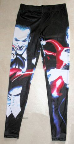 New DC Comics Batman Harley Quinn Joker Couple Hot Topic Leggings Yoga Pants | eBay