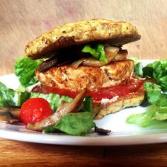 Homemade Turkey Burgers on a Cauliflower Bun -- recipes for both! via Live Right Be Healthy #lowcarb