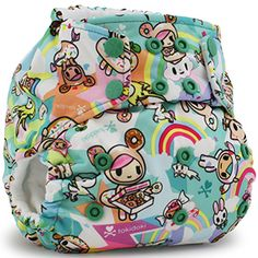 tokidoki donutella cloth diaper for babies and toddlers by Rumparooz tokisweet